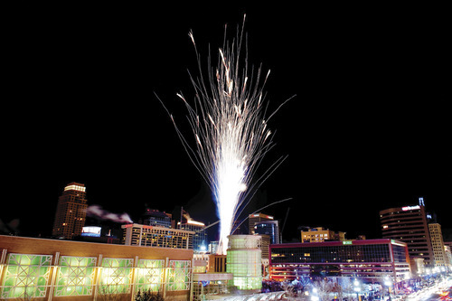 Courtesy David Newkirk New Year's Eve fireworks downtown. Utah's House voted Friday to limit the hours and times that fireworks can be set off. HB33 would limit fireworks displays to three days before and three days after the Fourth of July and July 24 and set a curfew at 11 p.m. Fireworks could also be ignited until 1 a.m. on New Year's and on the Chinese New Year.