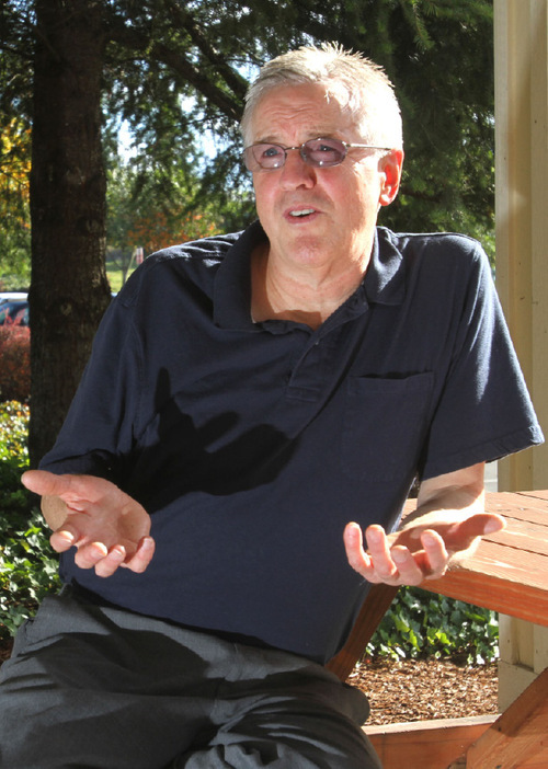 Rick Egan  |  Tribune file photo Steve Powell, father of Josh Powell, talks in 2010 about the disappearance of Susan Powell. Powell, 61, is charged with 14 counts of voyeurism and one count of possessing an image of minors engaged in sexually explicit conduct. He is scheduled for a weeklong jury trial beginning May 7.