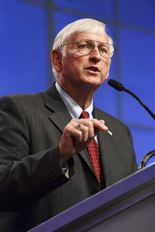 Leah Hogsten  |  The Salt Lake Tribune Second Congressional District Republican contender Milt Hanks threw out charges at the last minute before convention balloting on April 21,  alleging that four candidates conspired to oust rival Chris Stewart with some damaging information. Hanks, the Eureka mayor, said hopefuls David Clark, Cherilyn Eagar, Howard Wallack and Chuck Williams came to him recently to say they had negative information on Stewart and that they all needed to band together to get rid of him. The allegations brought some cheers by delegates, but left many of them a tad stunned.