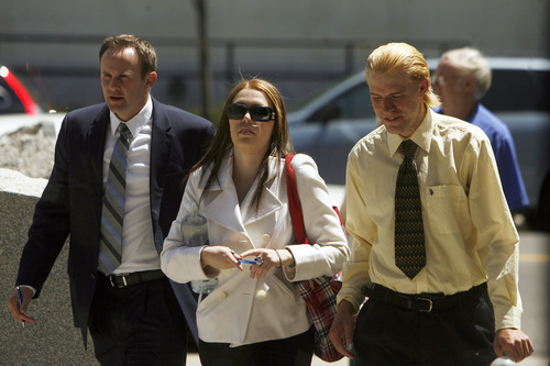 Francisco Kjolseth  |  The Salt Lake Tribune Shannon Price, center, ex-wife of child actor Gary Coleman appears in Fourth District Court in Provo, UT, on Monday, May 7, 2012, for the start of a two-day hearing over Coleman's estate. At left is Shannon's attorney Todd Bradford and her brother Sam Price.