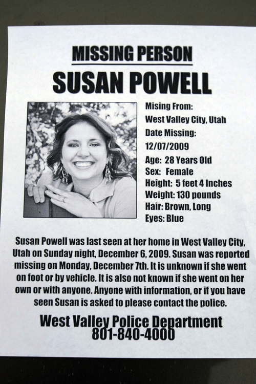 Tribune file photo A 'missing person' flier posted in 2009.