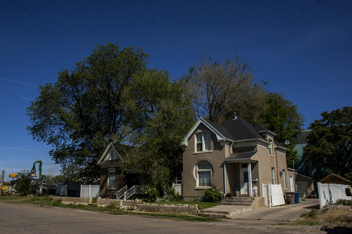 Chris Detrick  |  The Salt Lake Tribune Homes on Fayette Avenue in the Granary District, photographed on Wednesday, May 9, 2012.