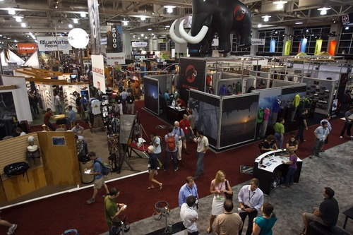 Photo by Chris Detrick  |  The Salt Lake Tribune  The not-open-to-the-public shows attract 7,100 retail attendees and connect buyers from outdoor specialty stores with 1,100 brands from around the world.