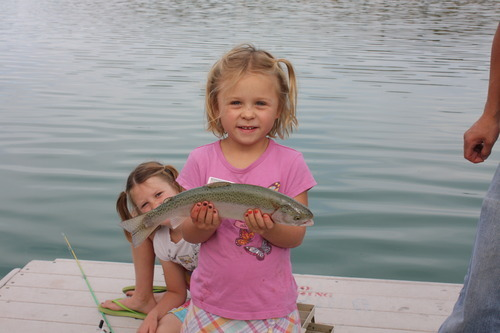 A young angler shows off her catch during a Rockin' Utah program, administered through Utah State Parks. Courtesy Utah State Parks