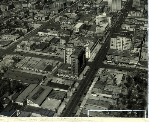 Tribune file photo  The Newhouse Hotel and Coconut Grove dancehall are seen in this photo from the 1930s.