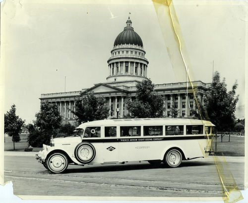 Tribune file photo  A tour bus is seen outside the Capitol Building in this undated photo.