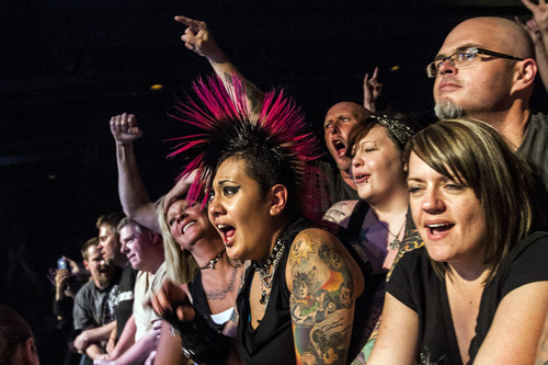 Chris Detrick  |  The Salt Lake Tribune Fans watch as Social Distortion performs at The Depot Friday May 11, 2012.