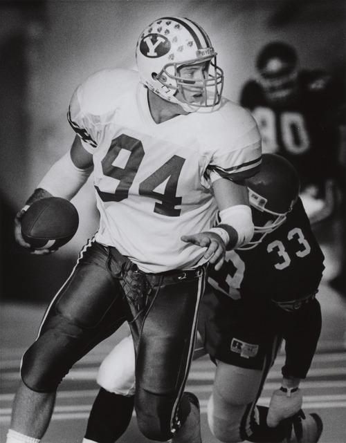 Ty Detmer, BYU quarterback.  Received November 19, 1990.