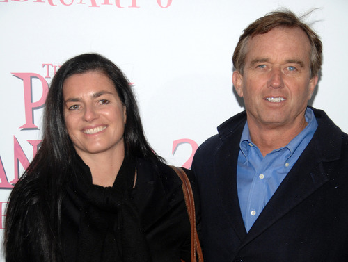 In this Feb. 3, 2009 file photo, Robert F. Kennedy Jr., right, and wife Mary Richardson Kennedy arrive at the premiere of