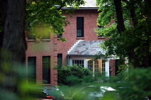 The home of Mary Kennedy, ex-wife of Robert F. Kennedy Jr. in Mt. Kisco New York where she was found dead in the afternoon hours Wednesday, May 16 2012  (AP Photo/David Karp)