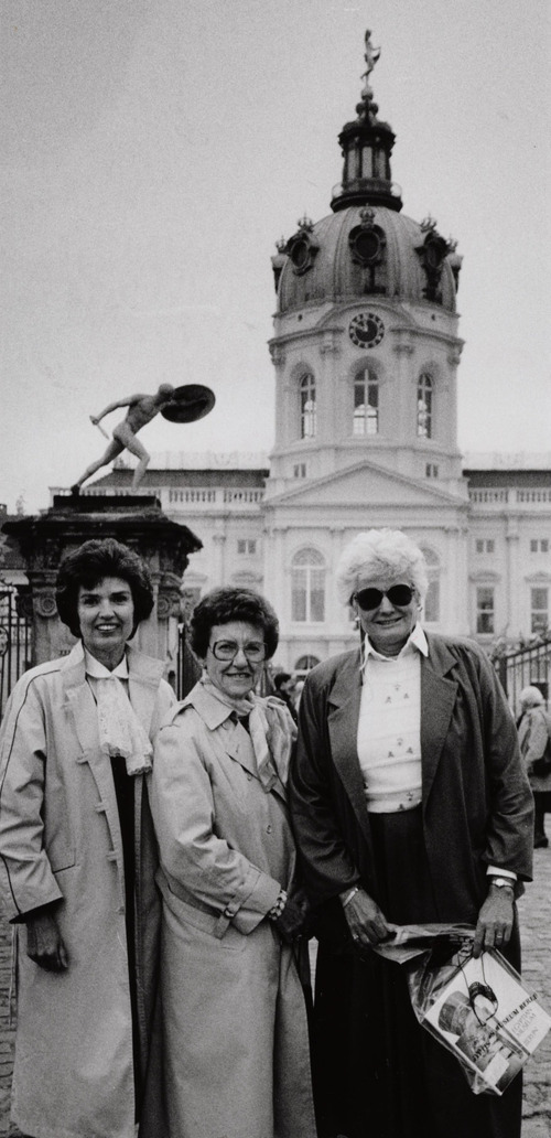 In this archive photo from 1986, Utah Symphony musicians   Lois Swint, Norma Lee Belnap and Frances Darger  visit Charlottenburg Palace  in West Berlin as part of the orchestra's European tour. Swint and Darger are retiring at the end of this season.