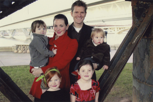 Stephanie Nielson poses with her family before she suffered burns over 80 percent of her body in a 2008 plane crash. Courtesy image