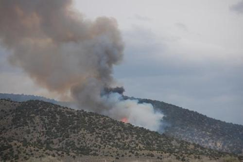 About 100 firefighters battled the 500-acre 73 Fire in Tooele County on Friday, aided by a series of rain showers and cooler temperatures. (Interagency Fire Center photo)