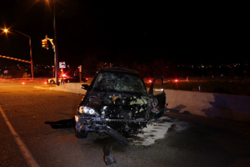 A student at a Provo residential treatment school allegedly escaped, stole a Mercedes SUV and caused a fatal crash after he was briefly chased by police Sunday.  Courtesy Provo police