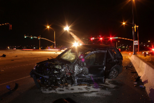 A student at a Provo residential treatment school allegedly escaped, stole a Mercedes SUV and caused a fatal crash after he was briefly chased by police Sunday. courtesy of Provo Police.