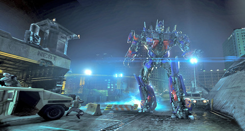 In this undated image released by Universal Studios Hollywood, the character Optimus Prime are displayed during the