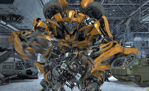 In this undated image released by Universal Studios Hollywood, the character Bumblebee is displayed from the