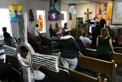 Scott Sommerdorf  |  The Salt Lake Tribune              The Old Catholic Church broke off from the institutional Catholic Church in the late 1800s. The church is progressive politically and religiously, but retains the liturgy, music and worship elements of Catholicism.