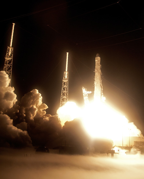 SpaceX private rocket launched to space station - The Salt ...
