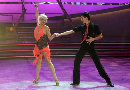 Kourtni Lind, left, and Matt Dorame perform the Mambo choreographed by Alex Da Silva on