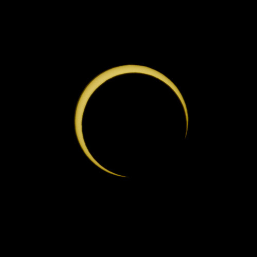Kim Raff  |  The Salt Lake Tribune  Different phases of Sunday's solar eclipse are seen as they appeared from Kanarraville, Utah, on Sunday, May 20, 2012.