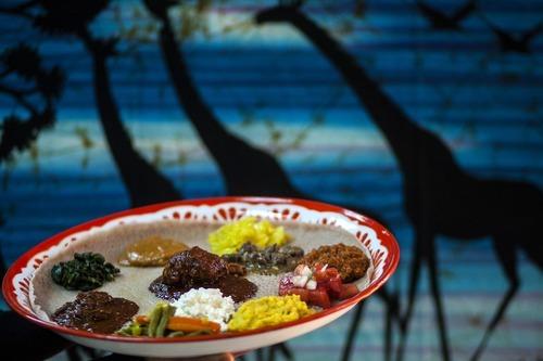 Chris Detrick     The Salt Lake Tribune Mahider Ethiopian Restaurant's doro wot, beef and vegetarian dishes.