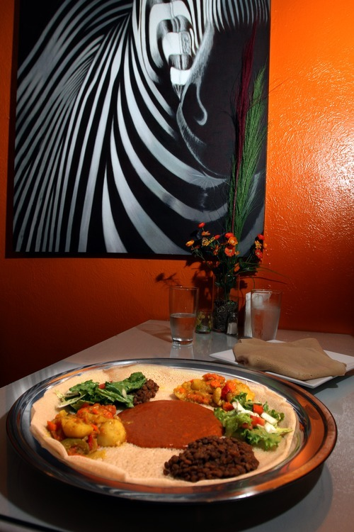 Rick Egan    The Salt Lake Tribune  Red Sea brings Ethiopian and Eritrean dining to Sugar House in Salt Lake City, offering vegetarian, meat and poultry dishes in a quiet respite off 2100 South. Pictured, vegetable combination plate.