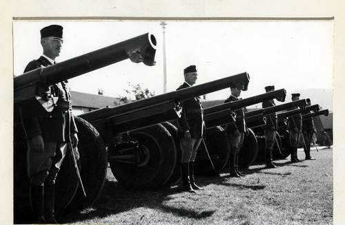 Tribune file photo  Members of the Utah National Guard's 145th Artillery are seen in this photo from 1936.