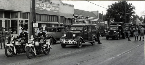 Tribune file photo  A line of Utah National Guard vehicles is seen at 3252 S State Street in Salt Lake City in this photo from 1935.