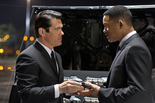 In this film image released by Sony Pictures, Josh Brolin, left, and Will Smith star are shown in a scene from