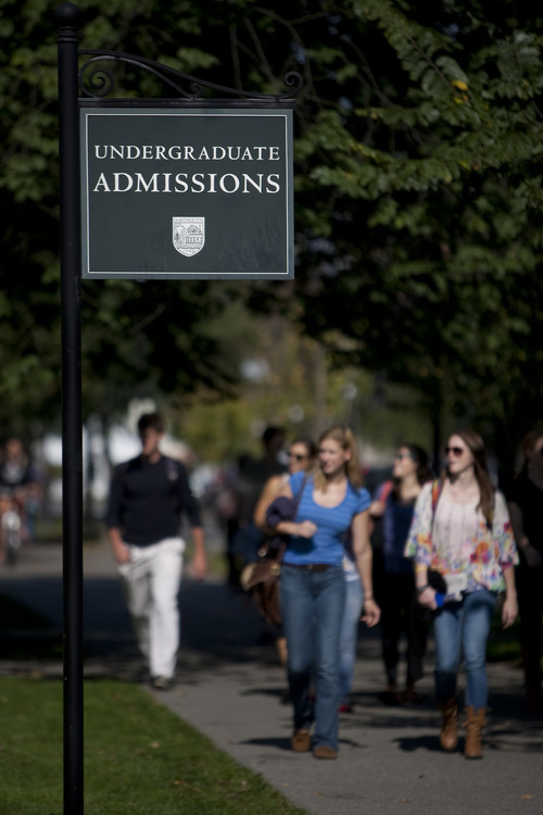 Scott Eells/Bloomberg More than two out of five U.S. higher-education students -- more than 9 million people -- attend schools that have deals with financial companies, says the report, written by the U.S. Public Interest Research Group Higher Education Fund.
