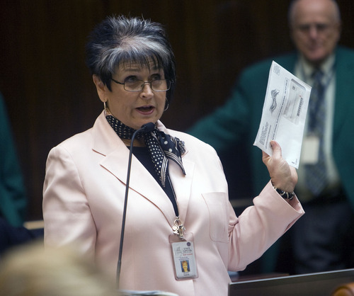 Al Hartmann  |  Tribune file photo. Rep. Merlynn Newbold, R-South Jordan.
