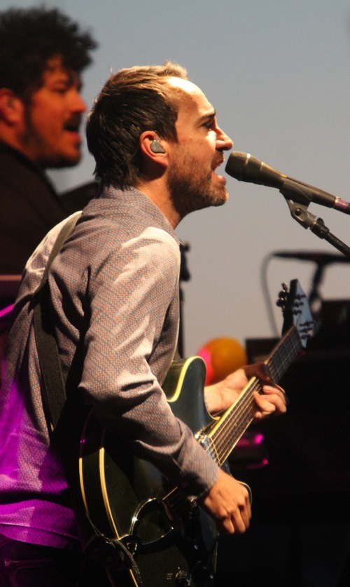Rick Egan  | The Salt Lake Tribune   James Mercer sings and plays guitar, as The Shins headline a sold-out concert at Red Butte Garden, Monday, May 28, 2012.