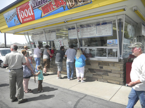 Tom Wharton  |  The Salt Lake Tribune Lunch is a busy time at the Burger Bar in Roy.