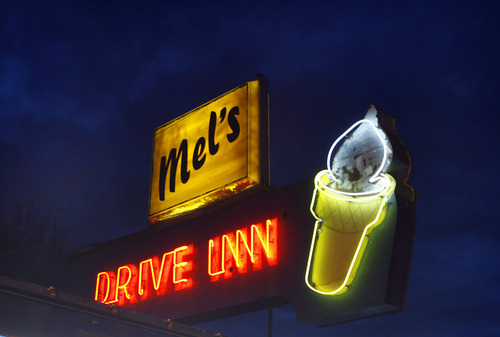 Al Hartmann | The Salt Lake Tribune Across from Beaver High School in the center of town,  Mel's Drive Inn  is known for its burgers and hot dogs.