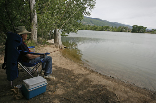 In layton a new fishing tale begins the salt lake tribune for Salt lake city fishing