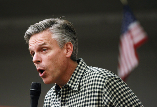 Former Utah Gov. Jon Huntsman goes off on what he calls a broken political system during a conference call with the group No Labels: