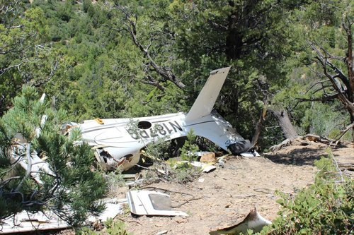 (Kane County Sheriff's Office photo Wreckage of aircraft that crashed near Zion National Park, killing all four people on board.