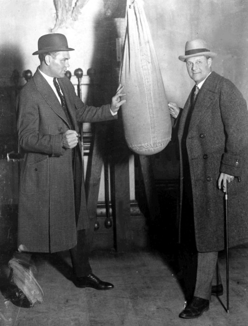 American heavyweight boxing champion Jack Dempsey, left, and boxing promoter George Lewis