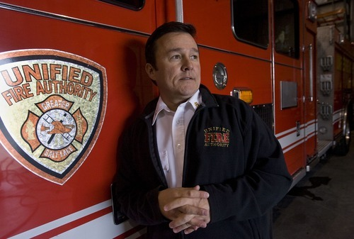 Al Hartmann  |  Salt Lake Tribune Unified Fire Authority Chief Michael Jensen doubles as a county councilman. Federal investigators have cleared him of Hatch Act allegations in this dual role.