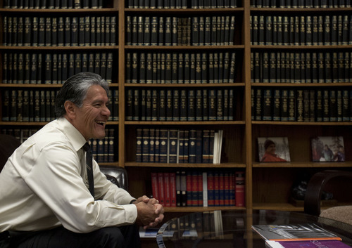 Trent Nelson  |  The Salt Lake Tribune U.S. District Court Magistrate Judge Samuel Alba, the first Latino judge in Utah, is retiring at the end of June after two decades on the bench. He was photographed Tuesday, May 29, 2012 in Salt Lake City, Utah.