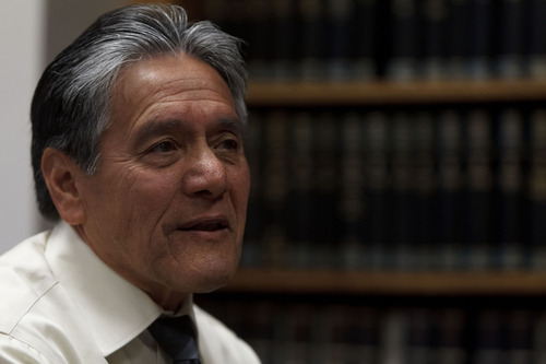 Trent Nelson  |  The Salt Lake Tribune U.S. District Court Magistrate Judge Samuel Alba is retiring at the end of June after 20 years on the bench. He was photographed Tuesday, May 29, 2012 in Salt Lake City, Utah.