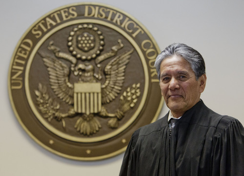 Trent Nelson  |  The Salt Lake Tribune U.S. District Magistrate Judge Samuel Alba is retiring at the end of June after 20 years on the bench. He was photographed Tuesday, May 29, 2012 in Salt Lake City, Utah.