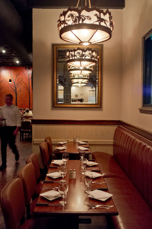 Trent Nelson  |  The Salt Lake Tribune Stockmens Steakhouse of West Valley City in West Valley City is a reasonably priced, locally-owned restaurant that brings a relaxed steakhouse vibe to the 'burbs. Affordable steaks and fine desserts are the draw, but the food and service needs attention.