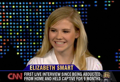 This photo taken from television and released by CNN shows, Elizabeth Smart during an episode of
