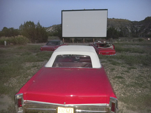 Tom Wharton  |  The Salt Lake Tribune Those watching a movie at the Shooting Star Drive-in are invited to sit in one of seven classic convertibles.