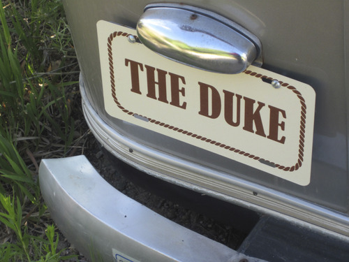 Tom Wharton  |  The Salt Lake Tribune Each of the Airstream trailers at the Shooting Star Drive-in in Escalante are named after a movie star. This one, The Duke, is decorated to look like a trailer John Wayne might have used while shooting a western in Utah.