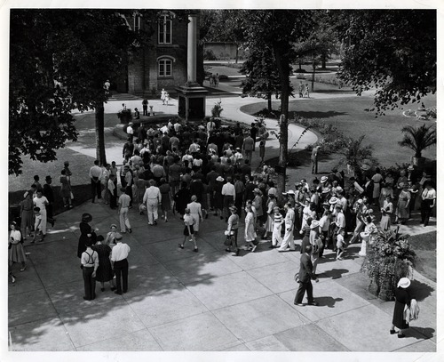Tribune file photo  People visit Temple Square in this undated photo.