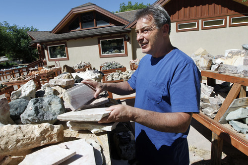 Al Hartmann  |  The Salt Lake Tribune  Todd Harris, owner of Zion Prospector, a rock and gem shop, says he is skeptical that foreign tourists would hear about the Springdale Police Department illegally collecting money from foreign tourists.