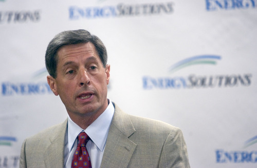 Al Hartmann  | The Salt Lake Tribune   Val Christensen is out as EnergySolutions president and CEO.